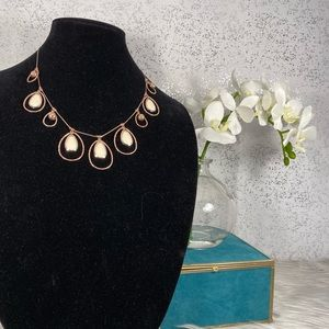 🆕 Metal Brand Gold Necklace with Teardrop Charms